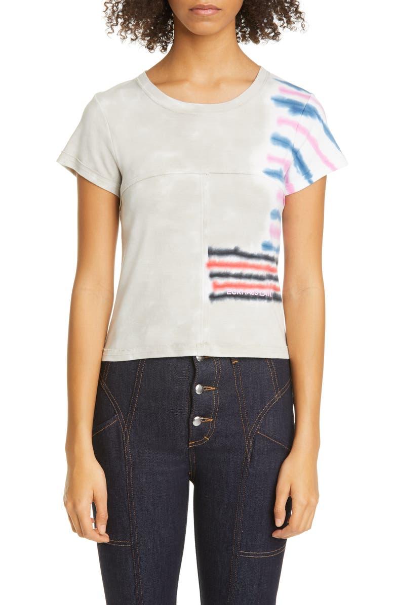 ECKHAUS LATTA Tie Dye Lapped Seam Baby T-Shirt, Main, color, 250
