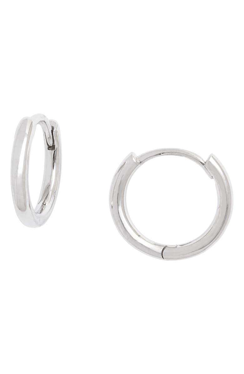 NORDSTROM Everyday Sterling Silver Huggie Hoop Earrings, Main, color, SILVER