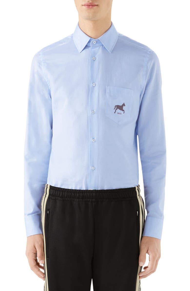 GUCCI Oxford Shirt, Main, color, 452