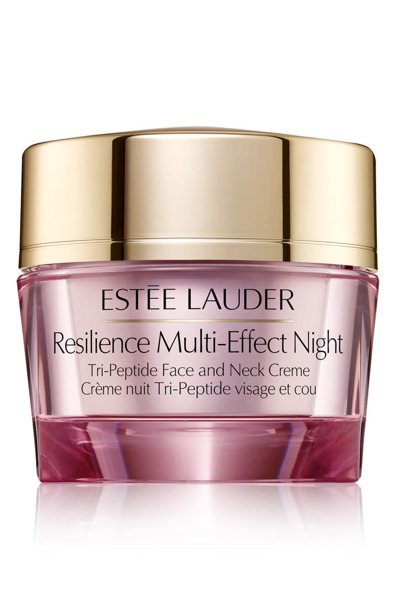 ESTÉE LAUDER Resilience Multi-Effect Night Tri-Peptide Face and Neck Creme, Main, color, NO COLOR