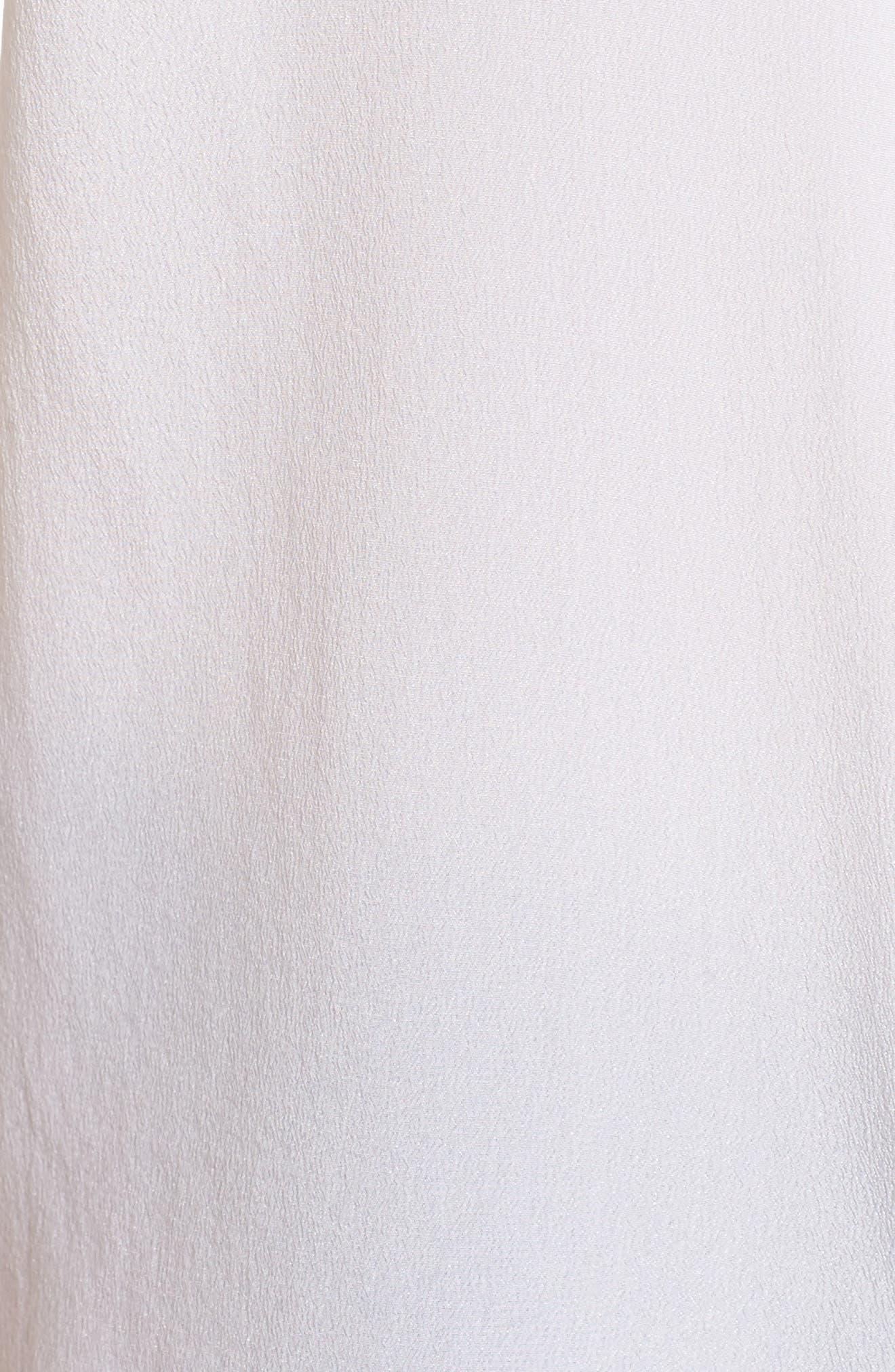 ,                             Slim Signature Short Sleeve Silk Shirt,                             Alternate thumbnail 5, color,                             BRIGHT WHITE