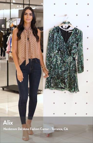 Rita Long Sleeve Snake Print Minidress, sales video thumbnail