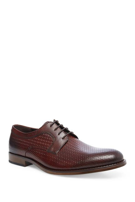 Image of Steve Madden Maquel Leather Textured Plain Toe Derby