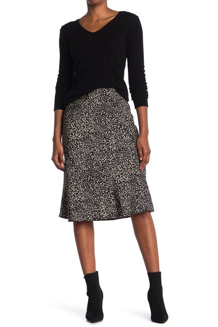 Image of Sanctuary Bias Cut Printed Satin Midi Skirt