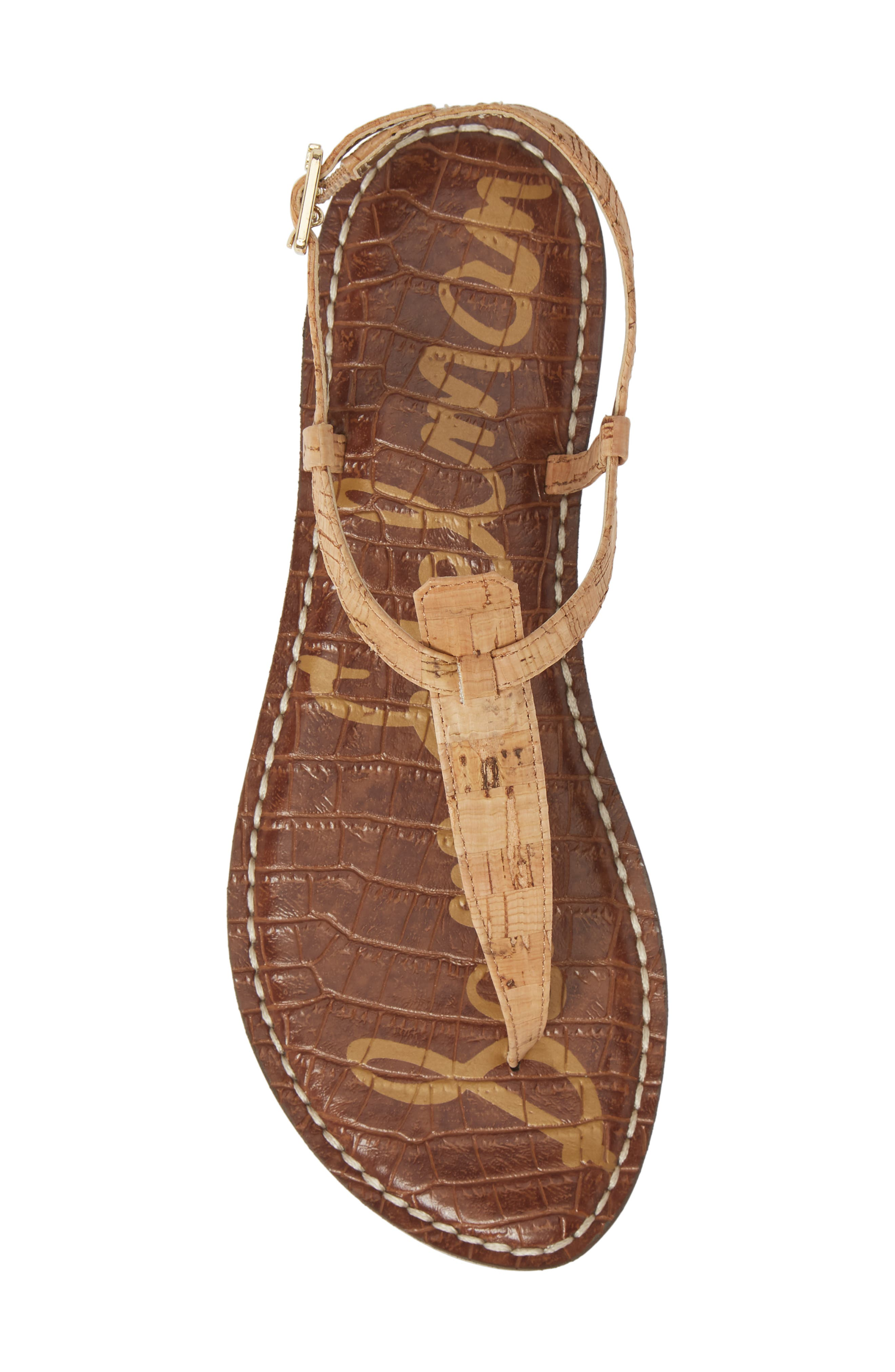 ,                             Gigi Sandal,                             Alternate thumbnail 6, color,                             NATURAL CORK