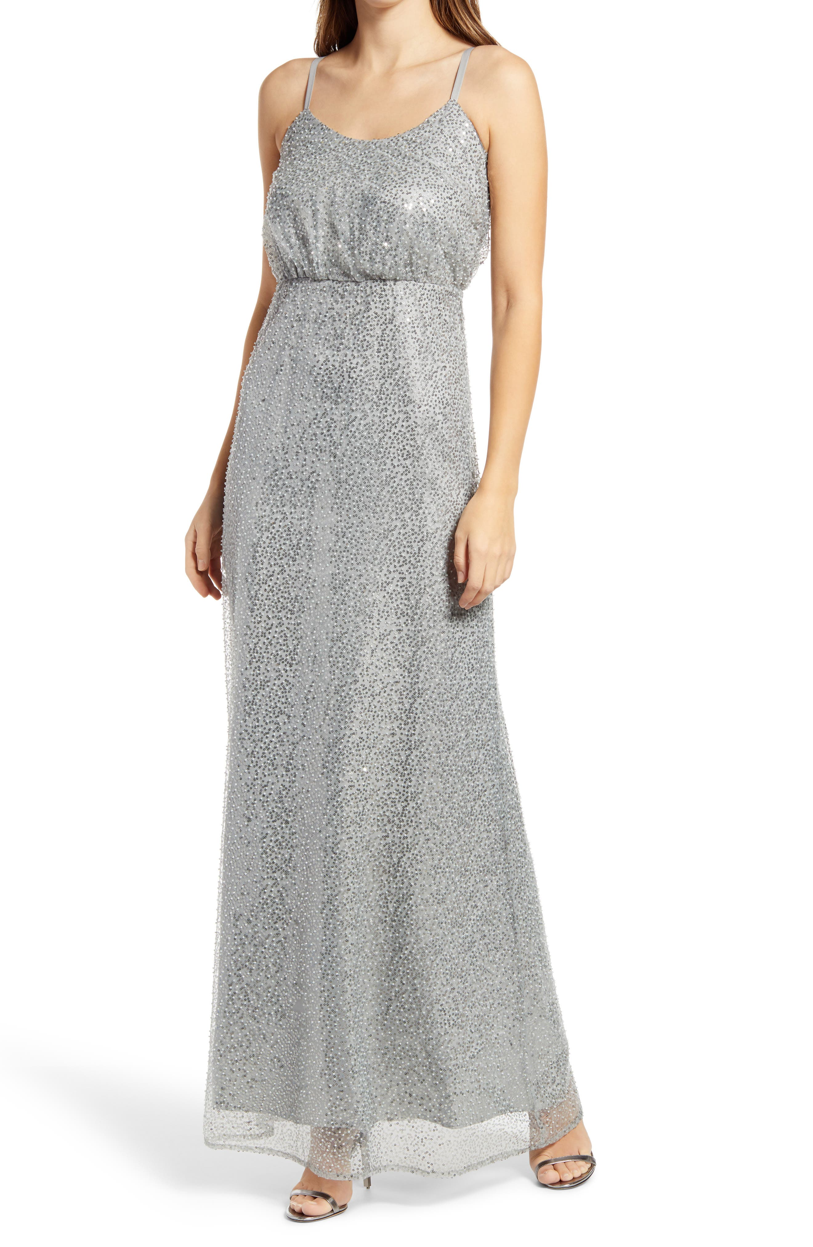 Sequined Maxi Gown