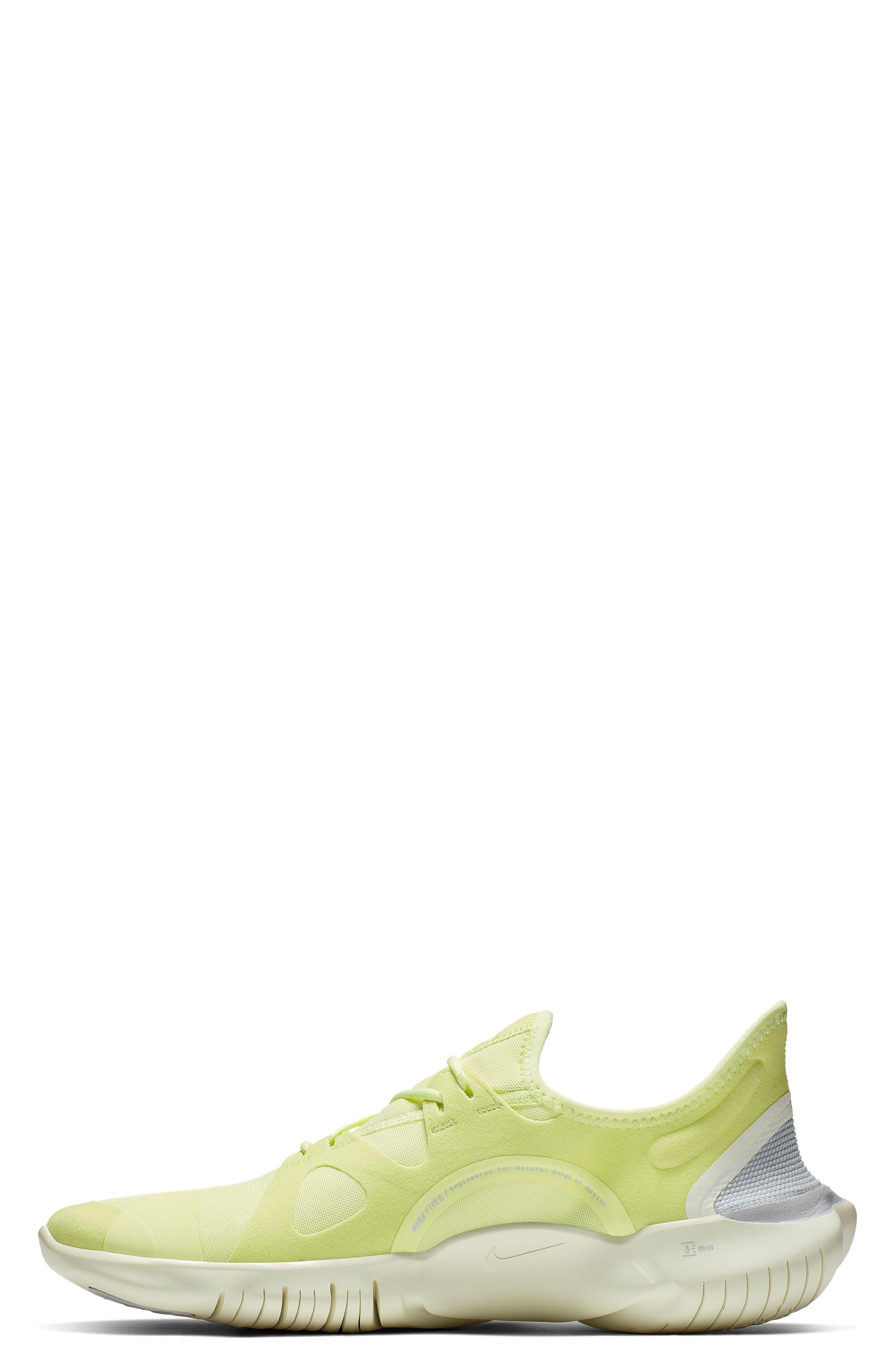,                             Free RN 5.0 Running Shoe,                             Alternate thumbnail 3, color,                             LUMINOUS GREEN/ BLACK/ SAIL