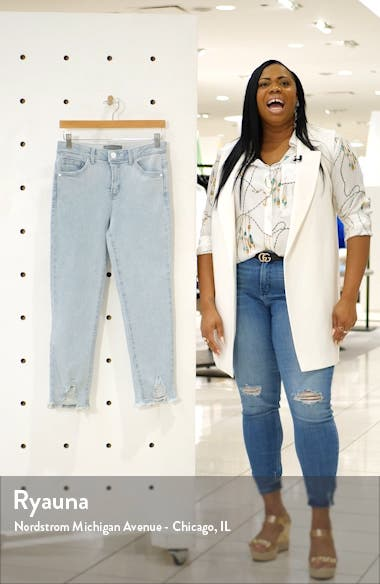 Luxe Touch Ripped Crop Jeans, sales video thumbnail