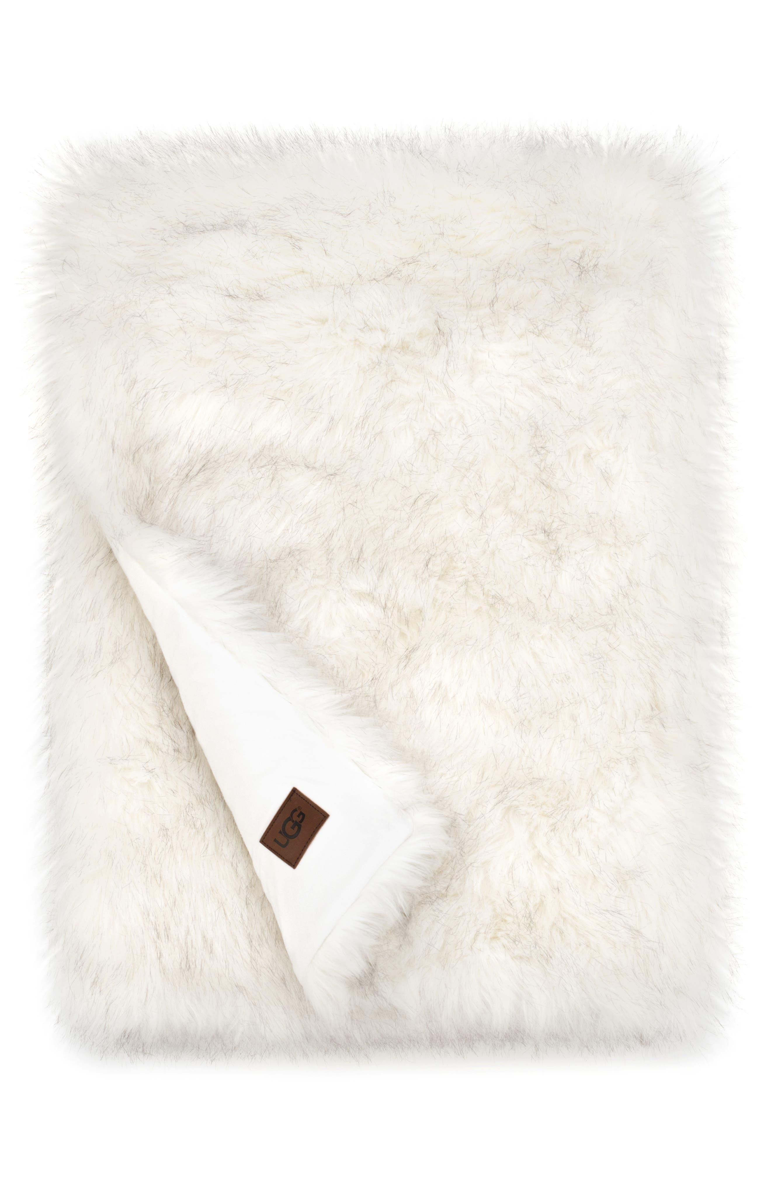 ,                             Blizzard Faux Fur Throw Blanket,                             Main thumbnail 1, color,                             NATURAL