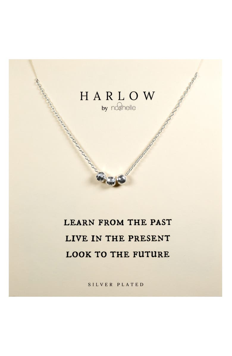 NASHELLE HARLOW by Nashelle Past, Present & Future Boxed Necklace, Main, color, SILVER