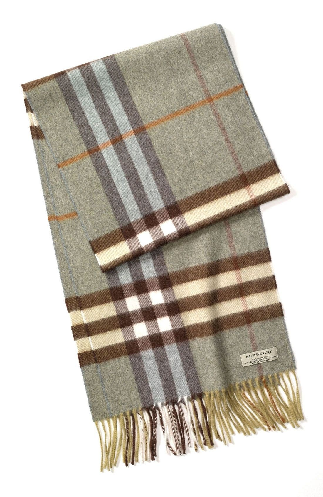 ,                             Heritage Check Cashmere Scarf,                             Main thumbnail 9, color,                             316