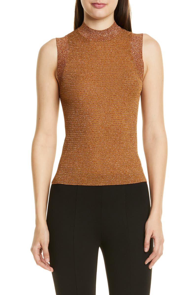 RAG & BONE Raina Metallic Sweater Tank, Main, color, 710