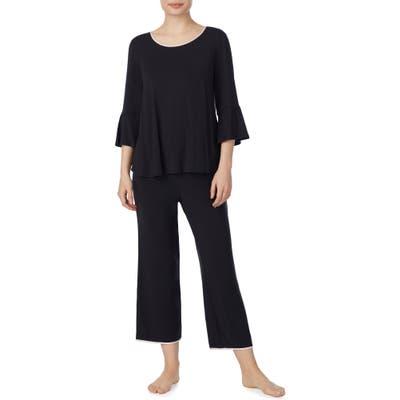Kate Spade New York Bell Cuff Pajamas, Black