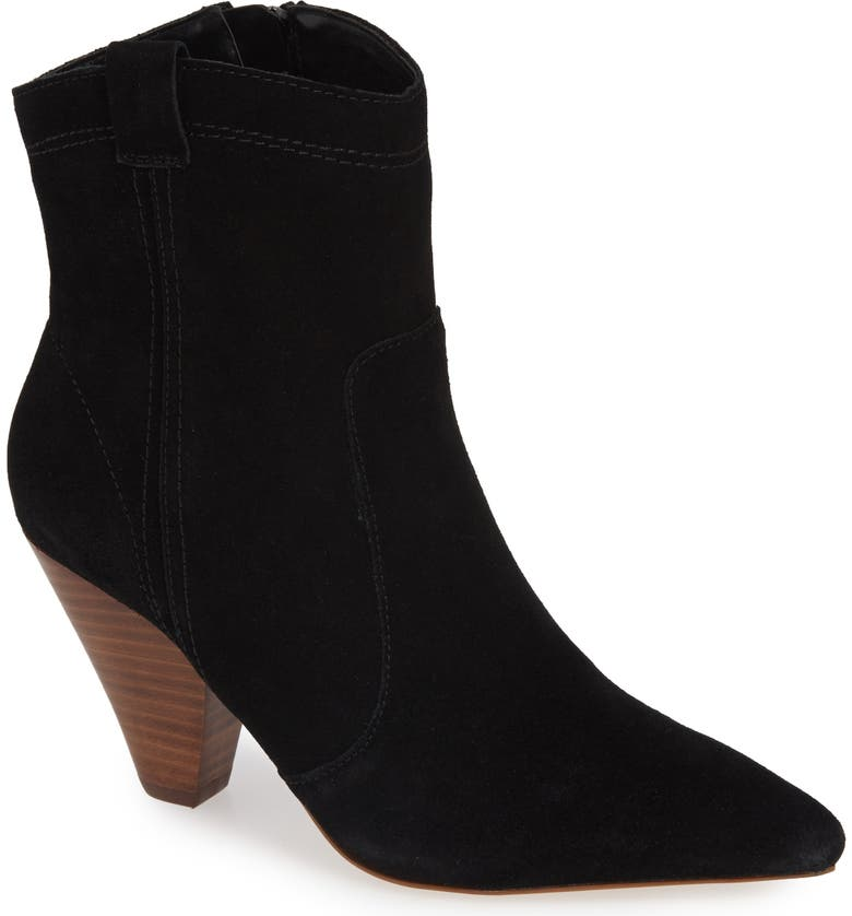 KENSIE Kalila Pointy Toe Bootie, Main, color, 001