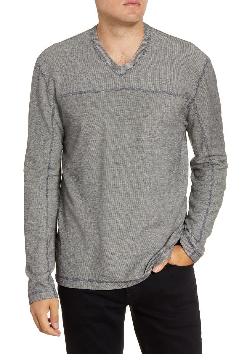 AGAVE Torrey Slim Fit Long Sleeve V-Neck T-Shirt, Main, color, BIRCH