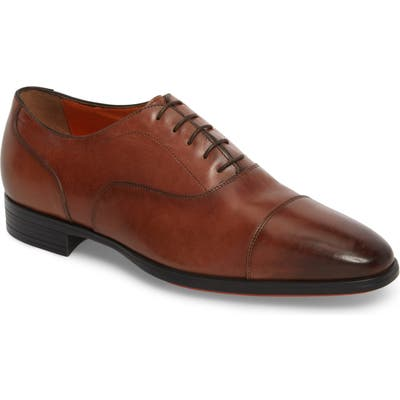 Santoni Eamon Cap Toe Oxford, Brown