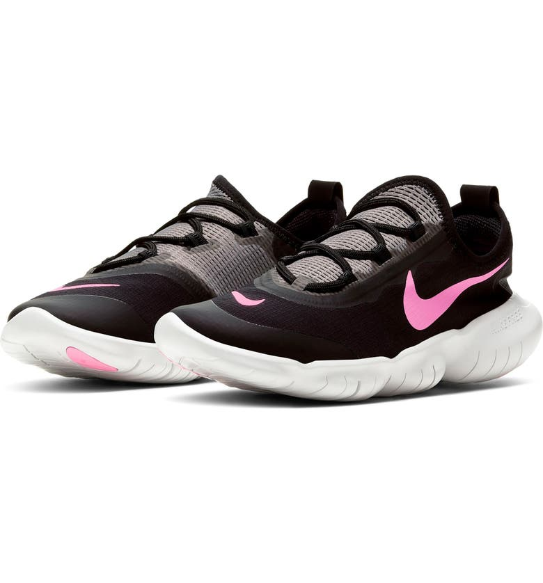 NIKE Free RN 5.0 2020 Running Shoe, Main, color, BLACK/ PINK-GREY-PHOTON DUST