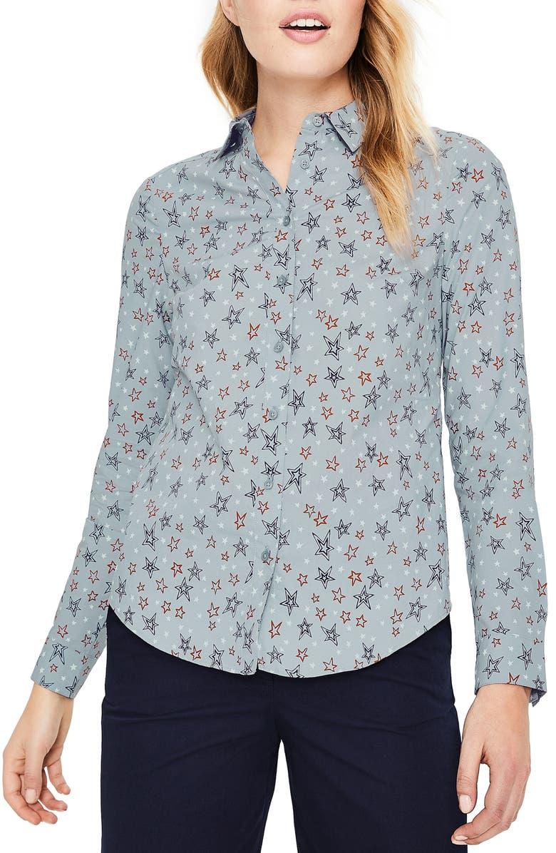 BODEN Modern Classic Print Shirt, Main, color, 454