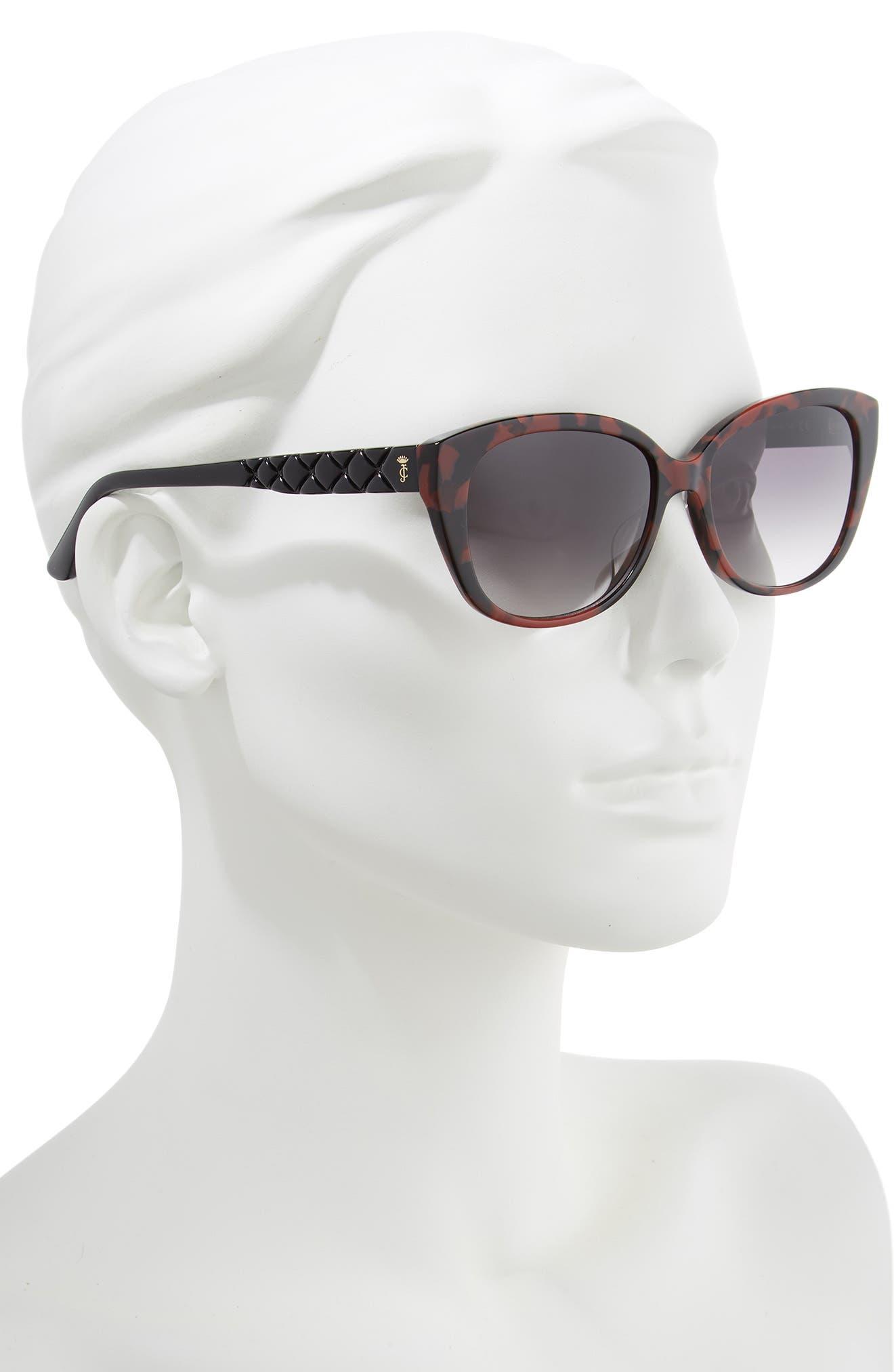 ,                             54mm Cat Eye Sunglasses,                             Alternate thumbnail 2, color,                             DARK HAVANA