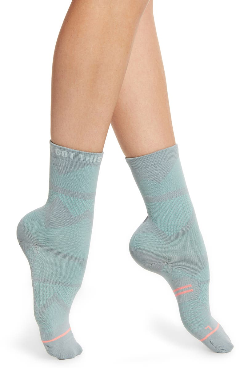 STANCE You Got This Crew Socks, Main, color, TEAL