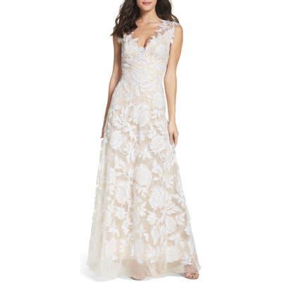 Tadashi Shoji A-Line Lace Gown