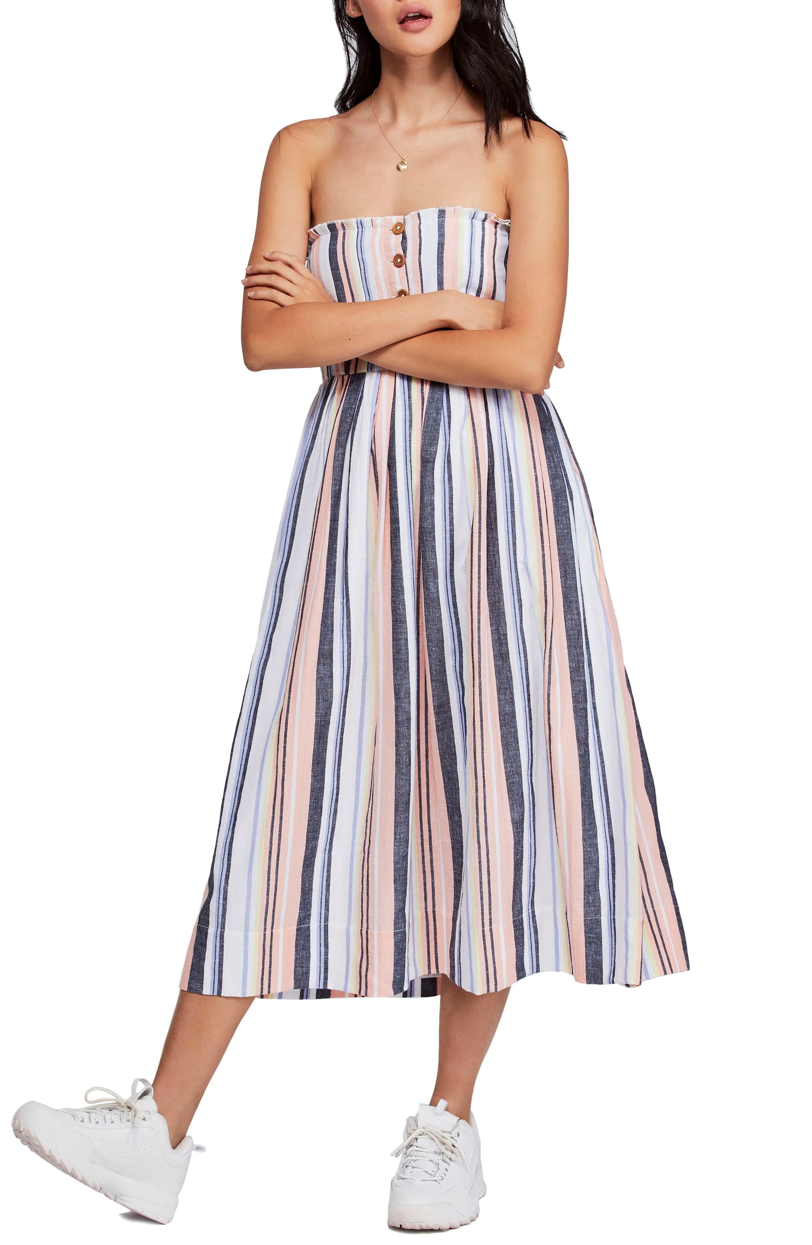 Free People Lilah Strapless Maxi Dress, Blue