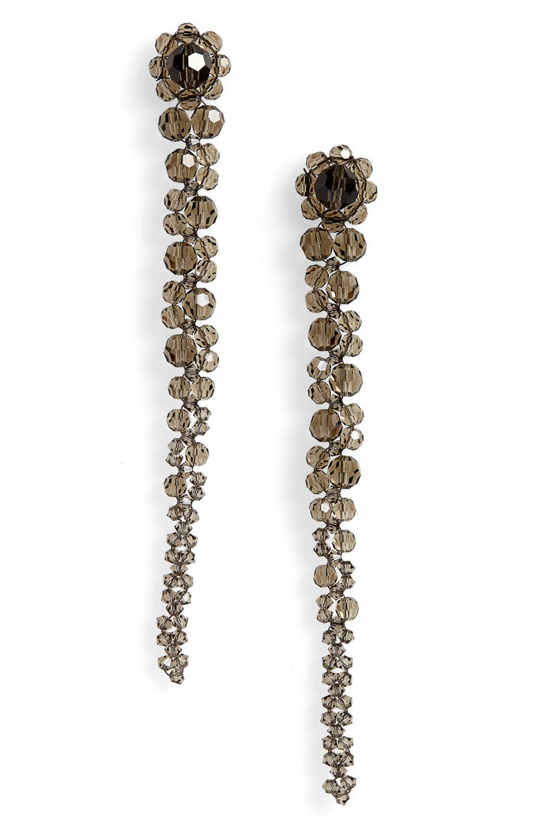 SIMONE ROCHA Beaded Drop Earrings, Main, color, SMOKE
