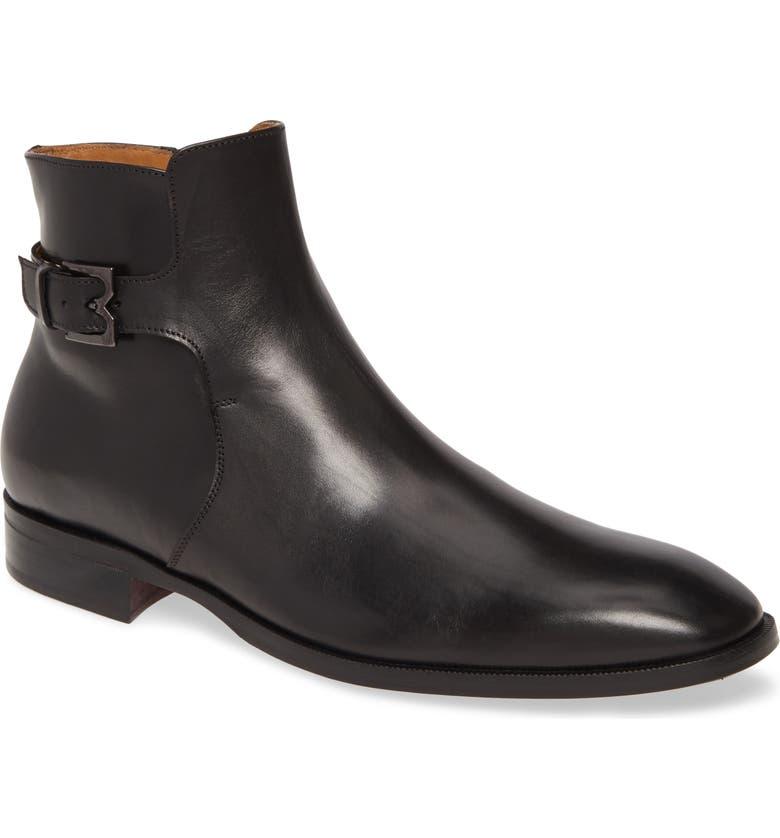 BRUNO MAGLI Angiolini Zip Boot, Main, color, BLACK LEATHER