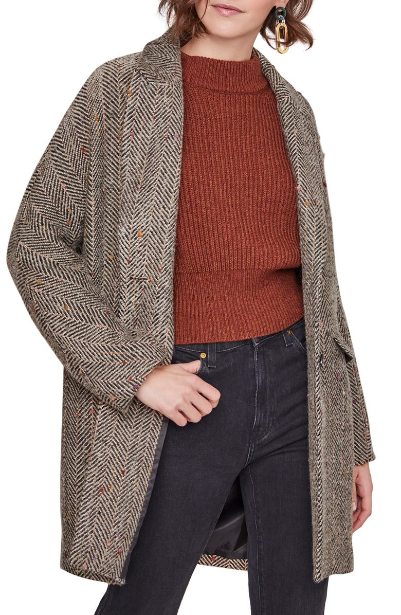 ASTR THE LABEL Keller Peaked Lapel Coat, Main, color, 200