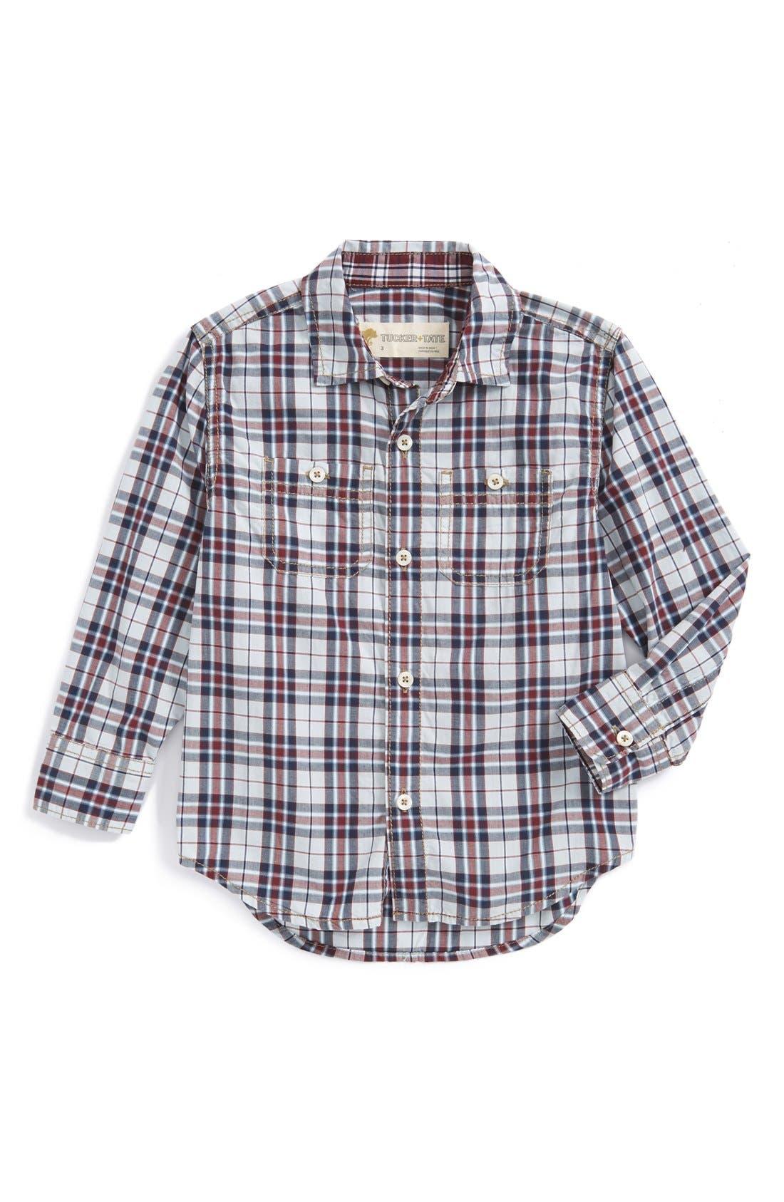 ,                             'Photo' Buffalo Plaid Woven Shirt,                             Main thumbnail 28, color,                             420