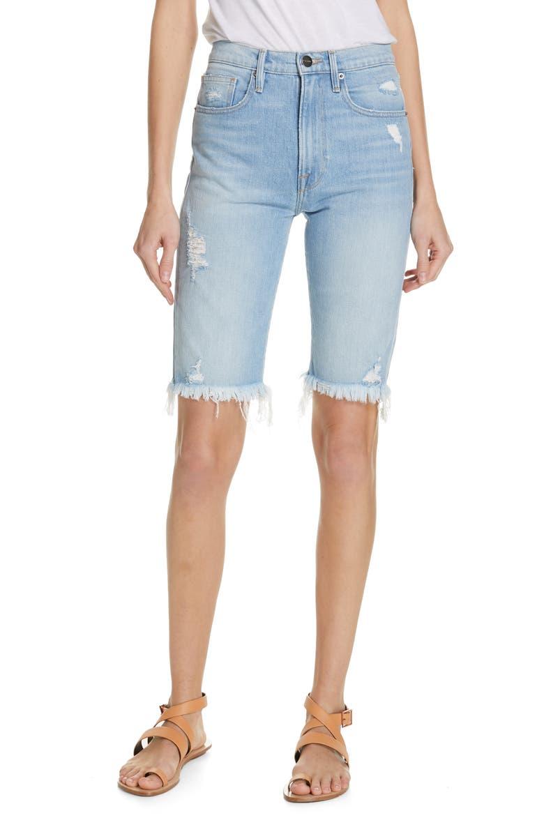 FRAME Le Vintage Bermuda Shorts, Main, color, PALAIS