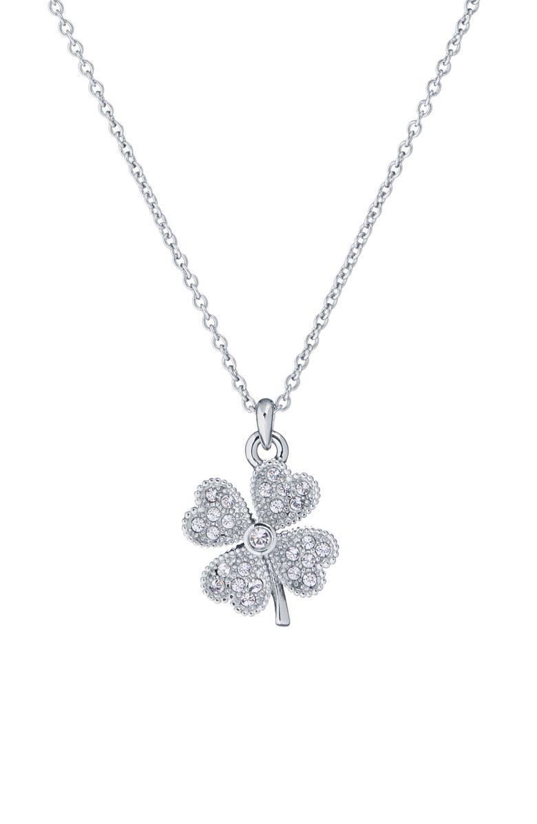 TED BAKER LONDON Heyam - Hidden Heart Clover Pendant Necklace, Main, color, 040