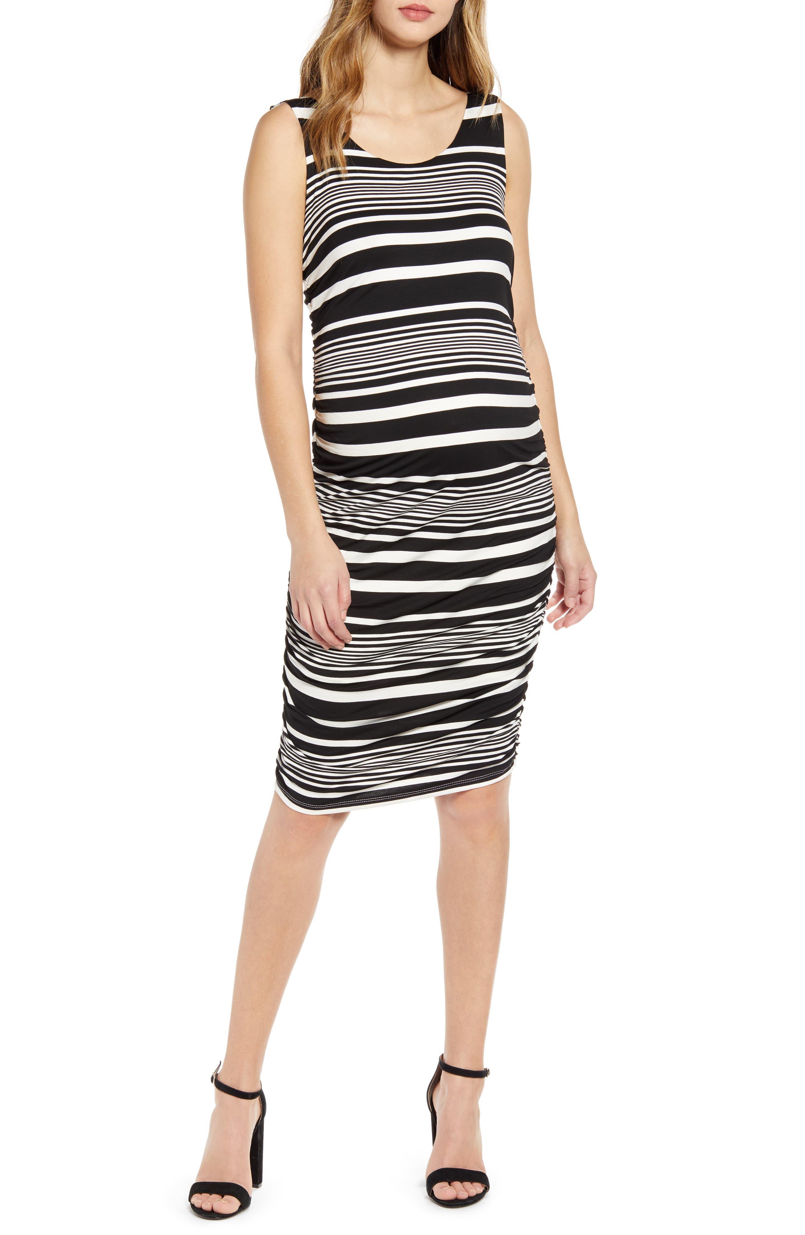 Stripe Maternity Body-Con Dress