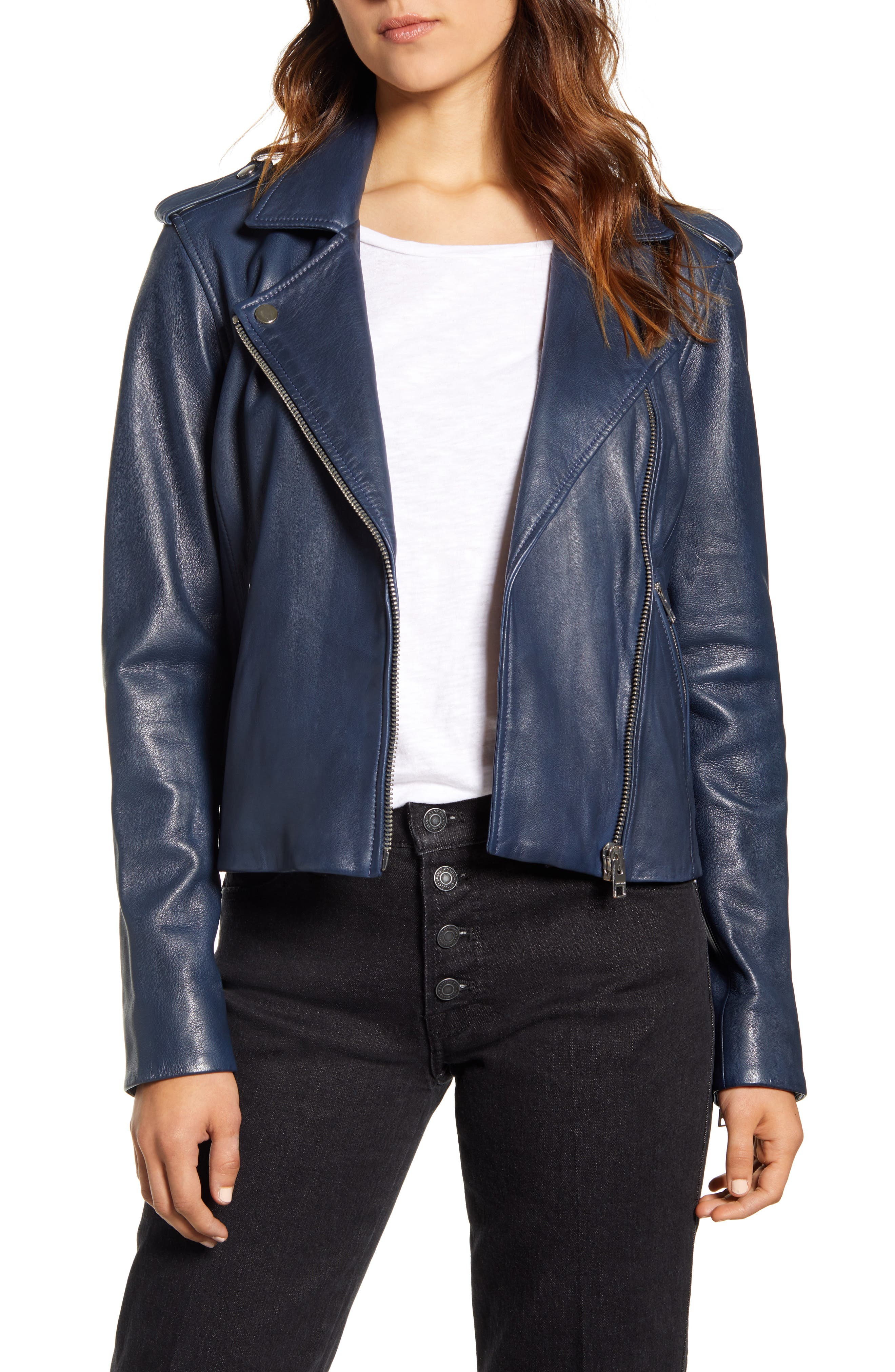 Lucky Brand Core Leather Moto Jacket | Nordstrom