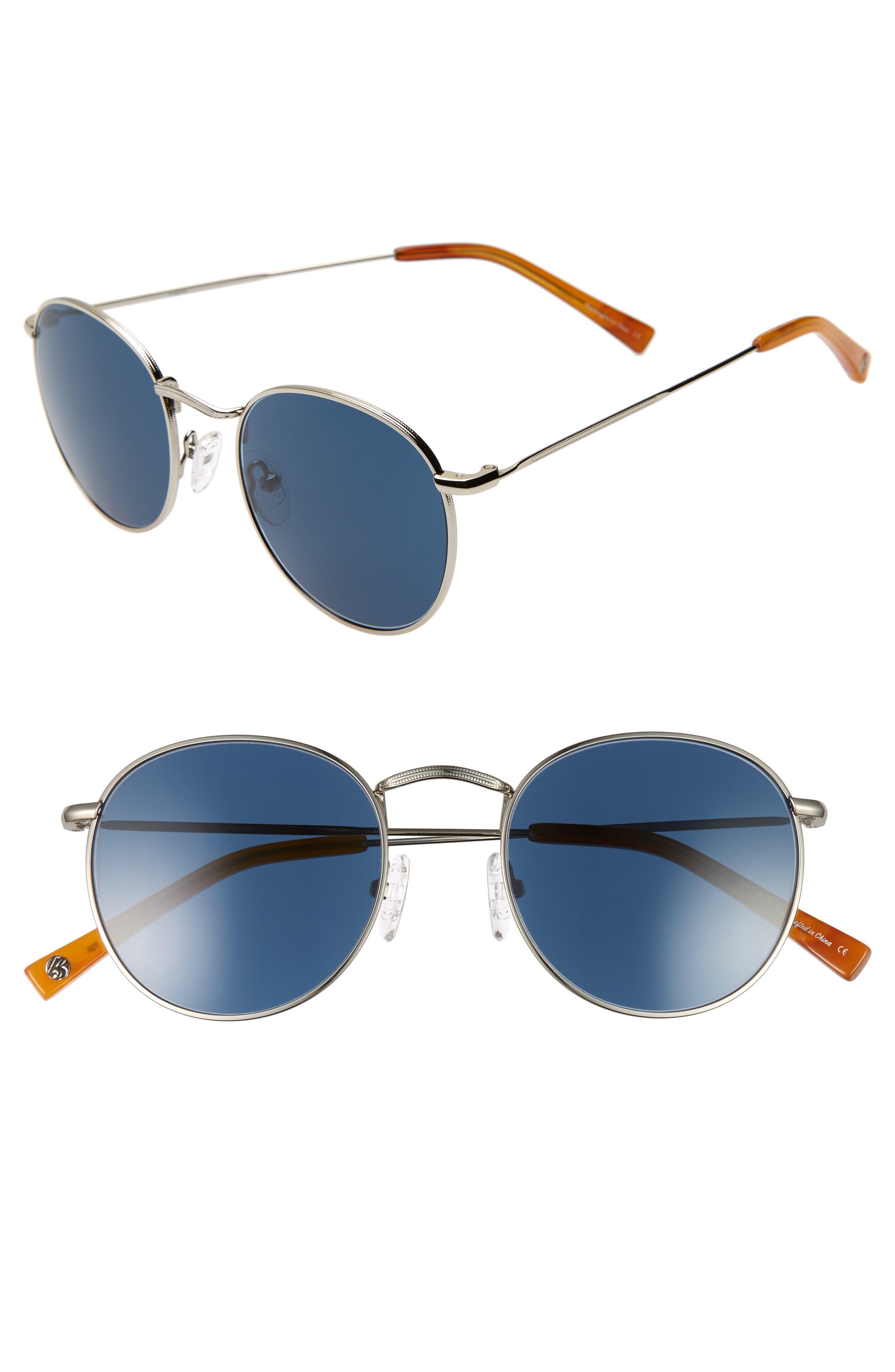 Charlie 50mm Mirrored Round Sunglasses