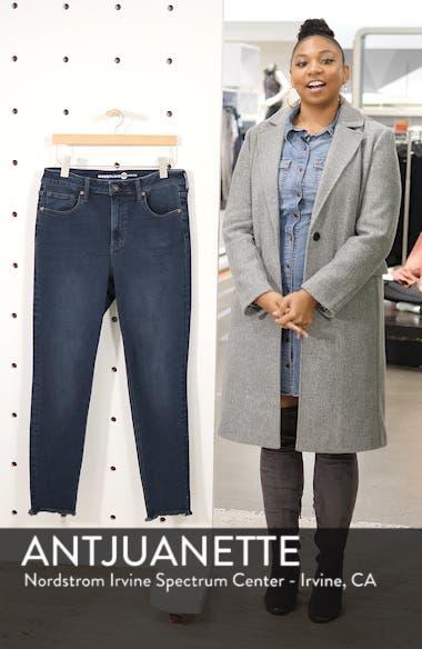 Perfect Vintage High Waist Core Fringe Hem Skinny Jeans, sales video thumbnail