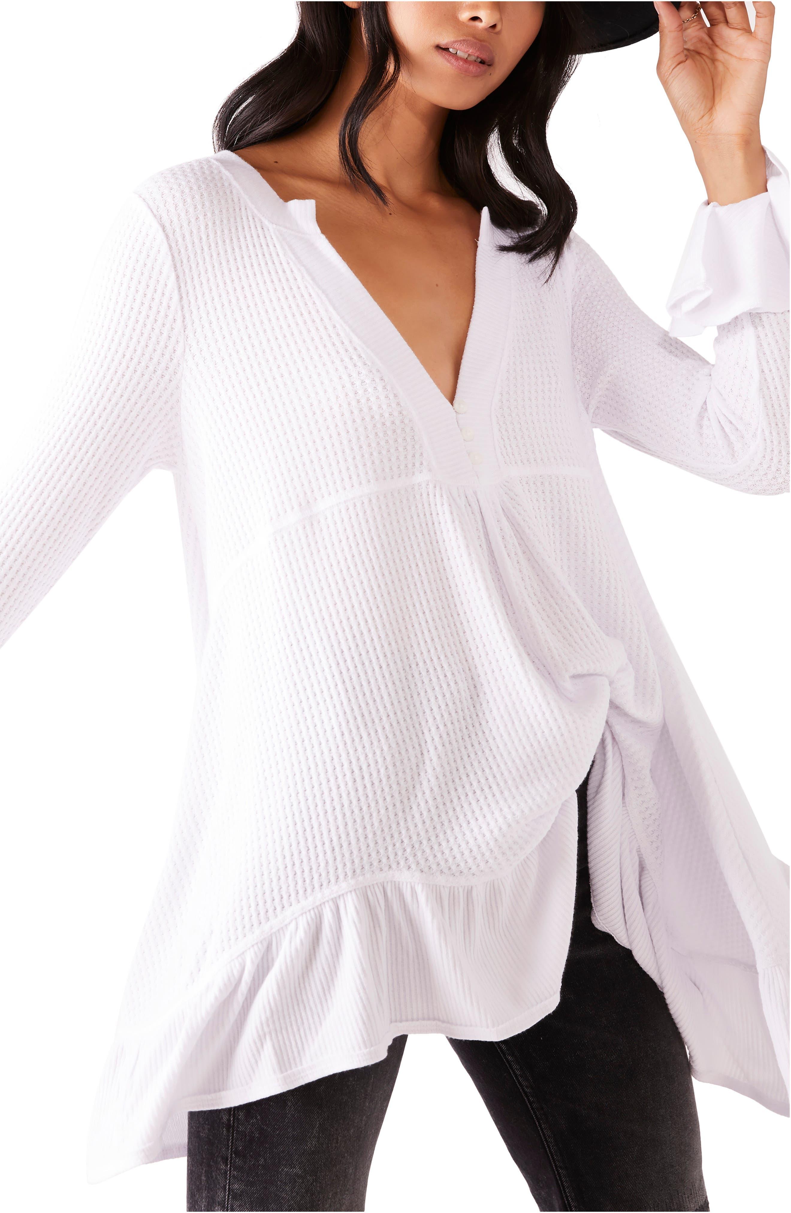 Image of Free People Olivia Ruffle Sleeve Tunic