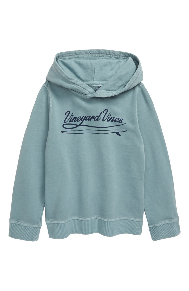 VINEYARD VINES Garment Dyed Logo Hoodie, Main, color, SEACLIFF BLUE