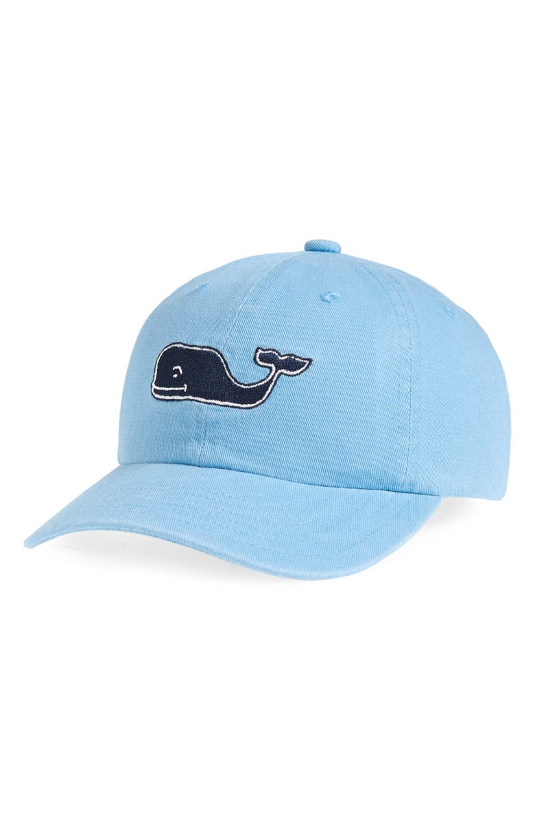 VINEYARD VINES Large Whale Logo Baseball Cap, Main, color, JAKE BLUE