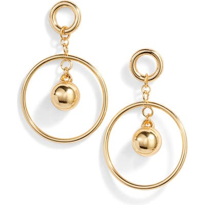 Ettika Ball & Hoop Drop Earrings