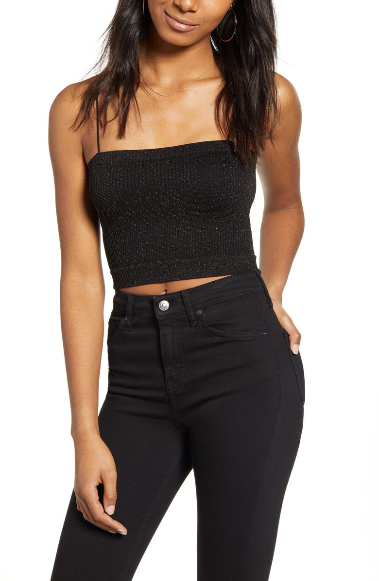 BDG URBAN OUTFITTERS Bungee Strap Tube Top, Main, color, 001