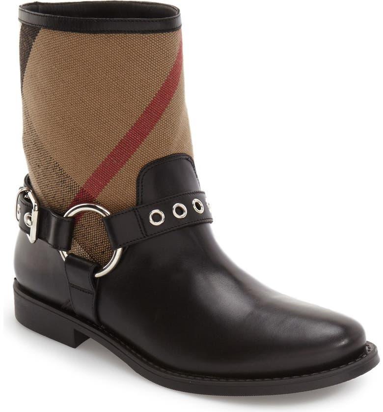 BURBERRY 'Queenstead' Boot, Main, color, 001
