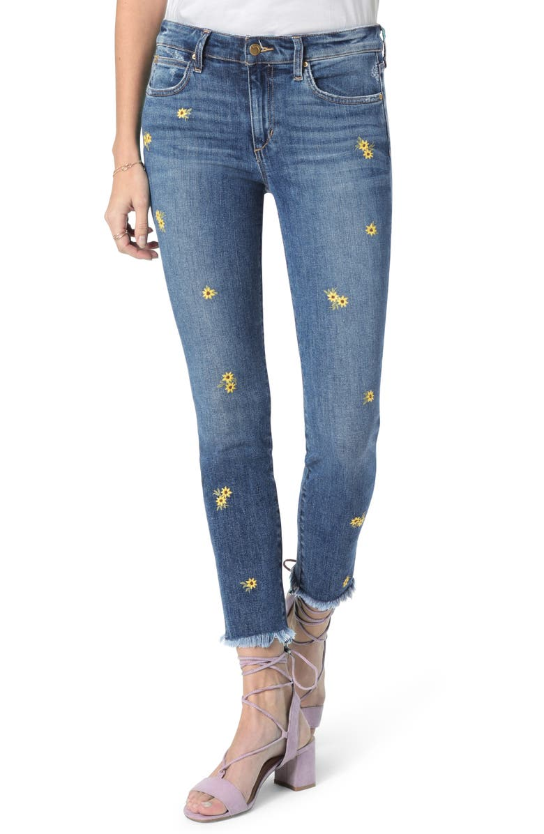 JOE'S The Icon Embroidered Crop Skinny Jeans, Main, color, BROOKLYNN