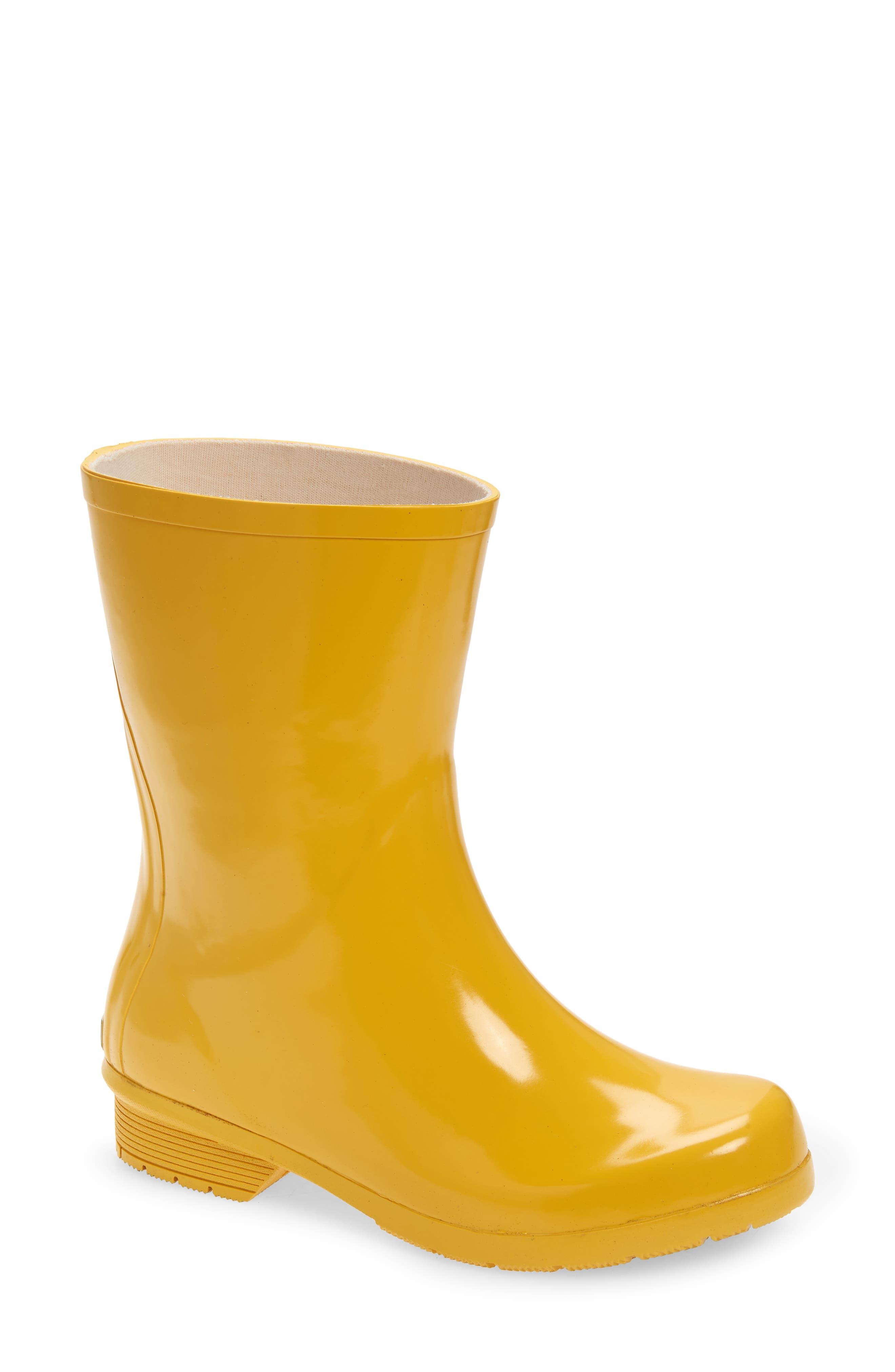 Polished Mid Rain Boot
