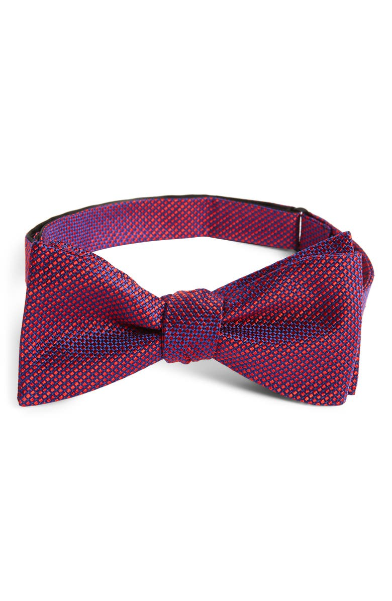 NORDSTROM MEN'S SHOP Ravin Dot Silk Bow Tie, Main, color, 410