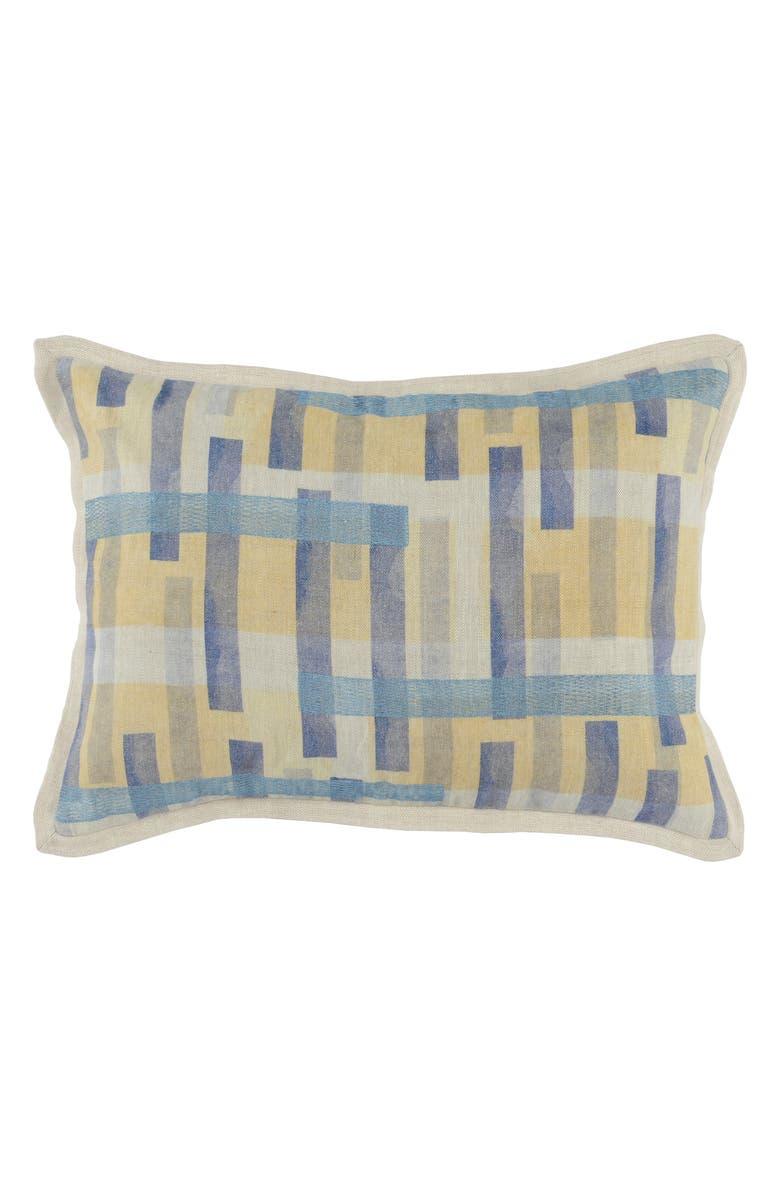 VILLA HOME COLLECTION Arlo Accent Pillow, Main, color, BLUE JAY/ DIJON