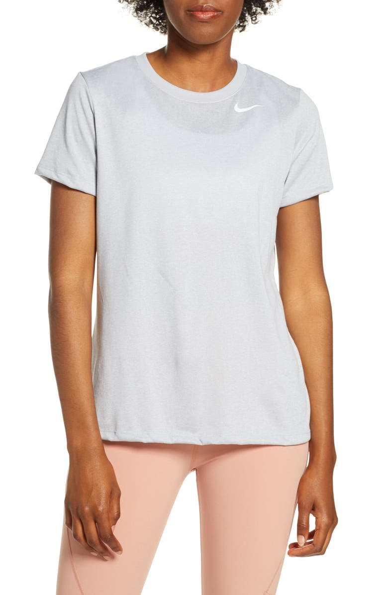 NIKE Dry Legend Training Tee, Main, color, WOLF GREY/ HTR/ WHITE