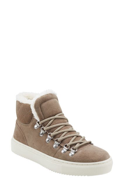 Image of Marc Fisher LTD Daisie Faux Fur Trim High Top Sneaker