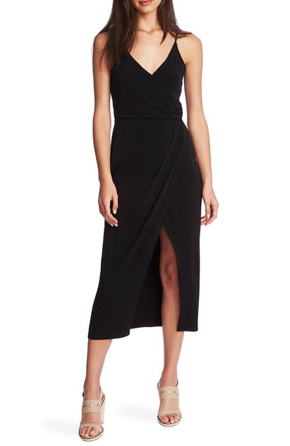1.state Dresses FAUX WRAP MIDI DRESS