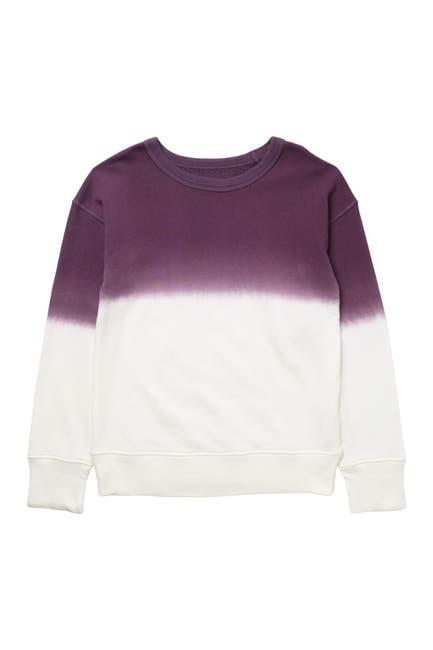 Image of Z by Zella Girl Savannah Long Sleeve Dip Dye Sweatshirt